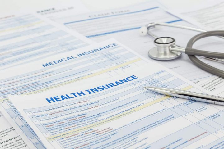 Medical insurance application and legal contract